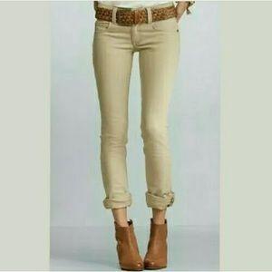Cabo women's jeans 8. Tan khaki straight leg